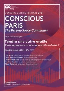 Affiche Conscious cities